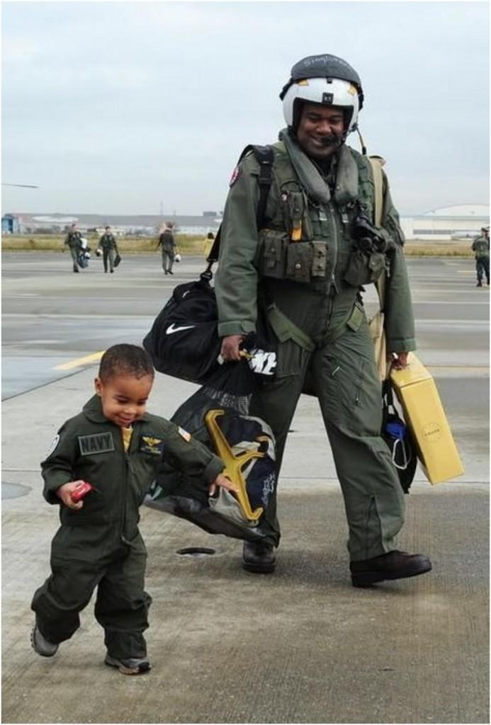 父と息子のほっこり画像
